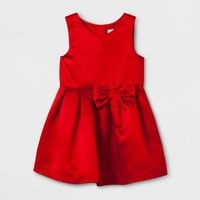 Toddler Girls' A Line Dress - Cat & Jack™ Red Satin