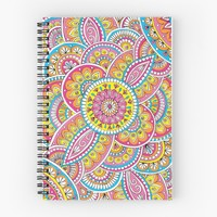 'Happiness' Spiral Notebook by Sarah Oelerich