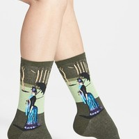 Women's Hot Sox 'A Sunday Afternoon' Crew Socks - Blue/green (3 for $15)
