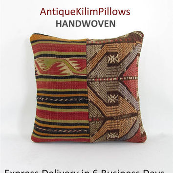 vintage pillow pillowcases kilim rug pillow pillow covers home decor vintage home decor antique kilim pillow 001103