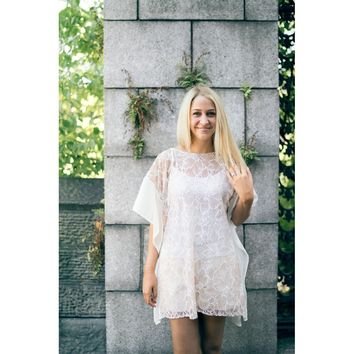 Floral Lace Caftan/Cover Up