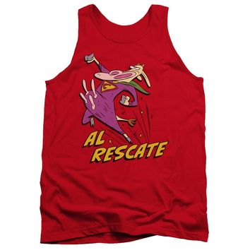 Cow And Chicken - Al Rescate Adult Tank Top Officially Licensed Apparel