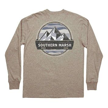 Branding Collection - Summit Long Sleeve Tee in Washed Burnt Taupe by Southern Marsh