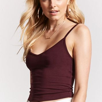 V-Neck Cropped Cami