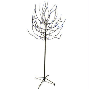 Bud Tree Yard Art - 140 Led Mini Blue Lights