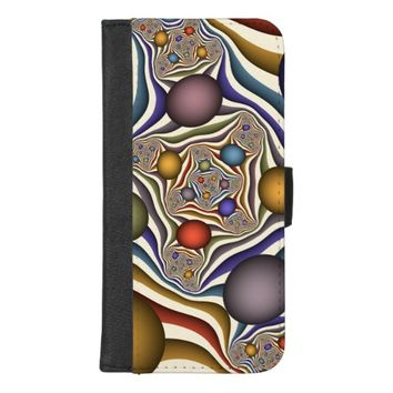 Flying Up, Colorful Modern Abstract Fractal Art iPhone 8/7 Plus Wallet Case