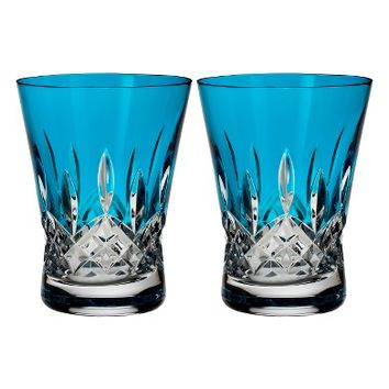 Waterford Lismore Pops Set of 2 Aqua Lead Crystal Double Old Fashioned Glasses | Nordstrom