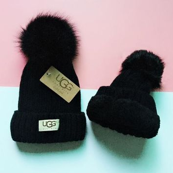 UGG Knit And Pom Hat Cap-16