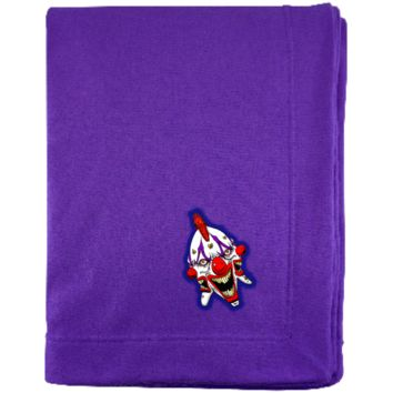 3 Headed Clown G129E Gildan Sweatshirt Blanket