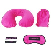 Travel Sleep Set with Eye Mask and Neck Pillow