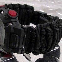 Tactical ParaCord Watch Band fits Casio G-Shock G9000 Mudman