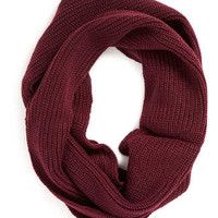 BURGUNDY RIB DETAIL SNOOD - Winter Accessories - Shoes and Accessories