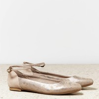 AEO Ankle Strap Pointed Toe Flat | American Eagle Outfitters