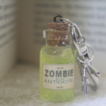 Walking Dead Inspired Zombie Antidote Keyring