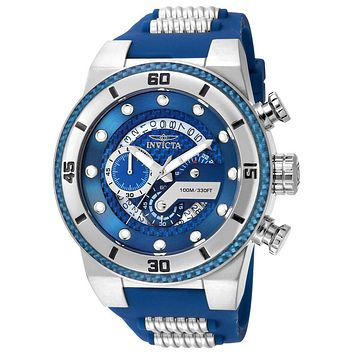INVICTA S1 Rally Mens Chrongraph - Blue & Stainless Steel - Silicone Strap