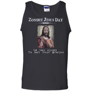 Funny Zombie Jesus Day He Has Risen Sarcastic Easter T-Shirt Tank Top