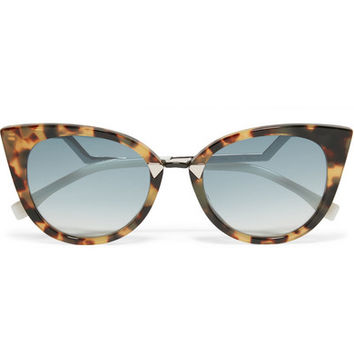 Fendi - Cat-eye acetate and silver-tone sunglasses