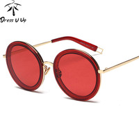 Round Sunglasses Women Luxury Vintage Designer Sunglass Points Sun Glasses Men Mirror