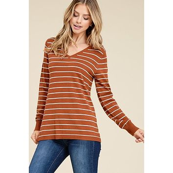 Simplified Style Sweater - Copper