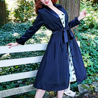 Henrietta Swing Dress Coat in Black