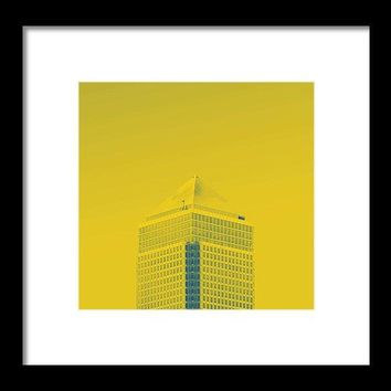 Urban Architecture - Canary Wharf, London, United Kingdom 6a - Framed Print
