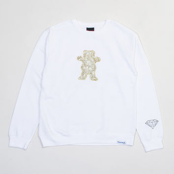 Grizzly Griptape x Ben Baller Crewneck Sweatshirt in White