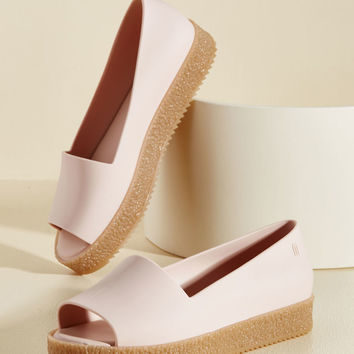 Zeal to Toe Peep Toe Flat