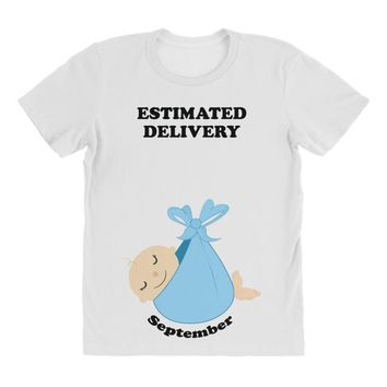 Estimated Delivery September Baby Boy All Over Women's T-shirt