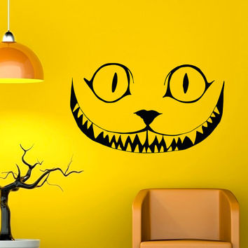 Alice In Wonderland Wall Decal Vinyl Sticker Cheshire Cat Decal Wall Art Home Decor Wall Decals For Nursery Bedroom Dorm Q044
