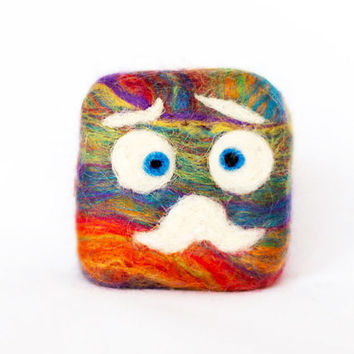 Felted monster. Funny soap for kids. Bath and shower toy. Homemade, eco friendly and 100% natural.