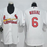 Women's St. Louis Cardinals #6 Stan Musial Majestic Cool Base Jersey