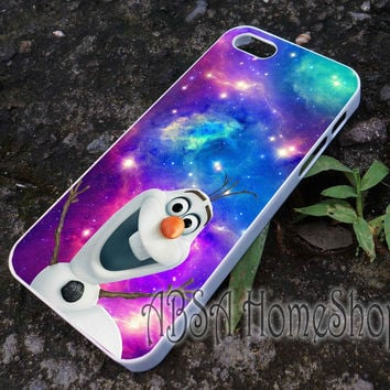 olaf disney frozen on galaxy nebula case for iPhone 4/4s/5/5s/5c/6/6+ case,iPod Touch 5th Case,Samsung Galaxy s3/s4/s5/s6Case, Sony Xperia Z3/4 case, LG G2/G3 case, HTC One M7/M8 case galaxy