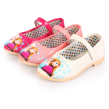 Autumn new girls shoes Flat toddler kids pink party chaussure Free Shipping baby Light Cozy cute princess shoes super perfect