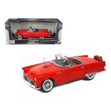 1956 Ford Thunderbird Red 1/18 Diecast Model Car by Motormax