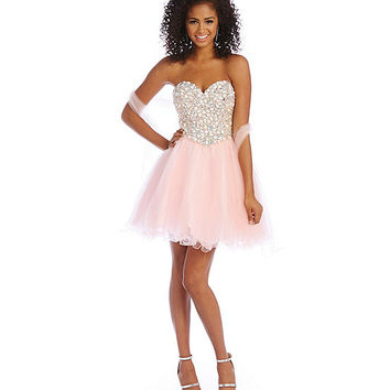 Savannah Nights Bead Encrusted Bodice Party Dress | Dillards