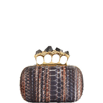 Alexander McQueen Python Knuckle Clutch Bag