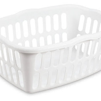 Sterilite Rectangular Laundry Basket, White