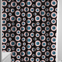 Sourpuss Optical Delusion Shower Curtain Black One