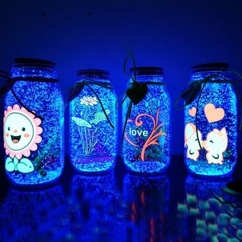 10g Glow In The Dark Luminous Party DIY Bright Paint Star Wishing Bottle Fluorescent Particles Brinquedos Kids Toys For Children
