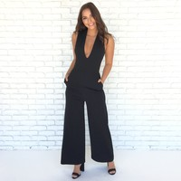 Simply Sophisticated Jumpsuit in Black
