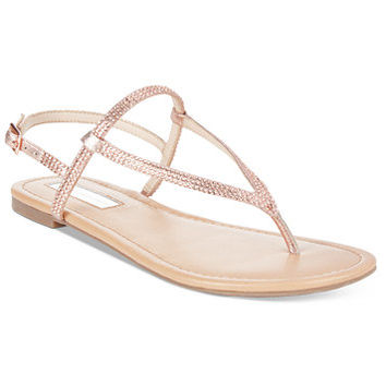 INC International Concepts Women's Macawi Embellished Flat Sandals, Only at Macy's | macys.com