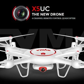 SYMA X5UW X5UC Drone 2.4G 4-CH 6-Axis FPV Real Time RC Quadcopter With HD WfFi Camera One Key returnHelicopter