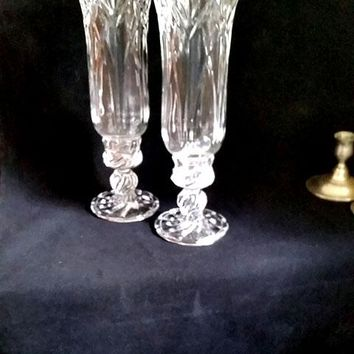 Royal Limited Lead Crystal Hurricane Lamps