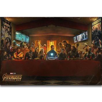 S1102 Captain America Avengers Infinity War 2018 Hot Movie Wall Art Painting Print On Silk Canvas Poster Home Decoration
