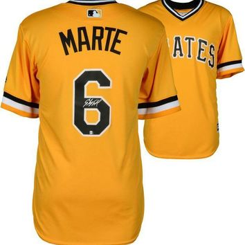MDIGON Starling Marte Signed Autographed Pittsburgh Pirates Baseball Jersey (JSA COA)