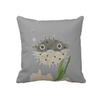 Puffer Fish Pillow from Zazzle.com