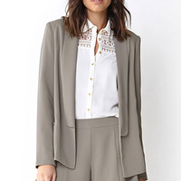 LOVE 21 Sophisticated Textured Blazer