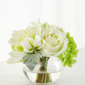 John-Richard Collection Natures Green Floral Arrangement | Neiman Marcus