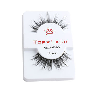 1 Pair Women Black Luxurious Real Mink Natural Thick Eye Lashes Soft Long Handmade False Eyelashes Makeup Extension Beauty Tools