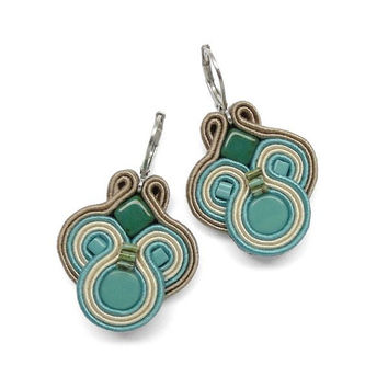 Turquoise Earrings Turquoise Chandelier Earrings Soutache Earrings Blue Earrings Blue Chandelier Earrings Turquoise Dangle Earrings
